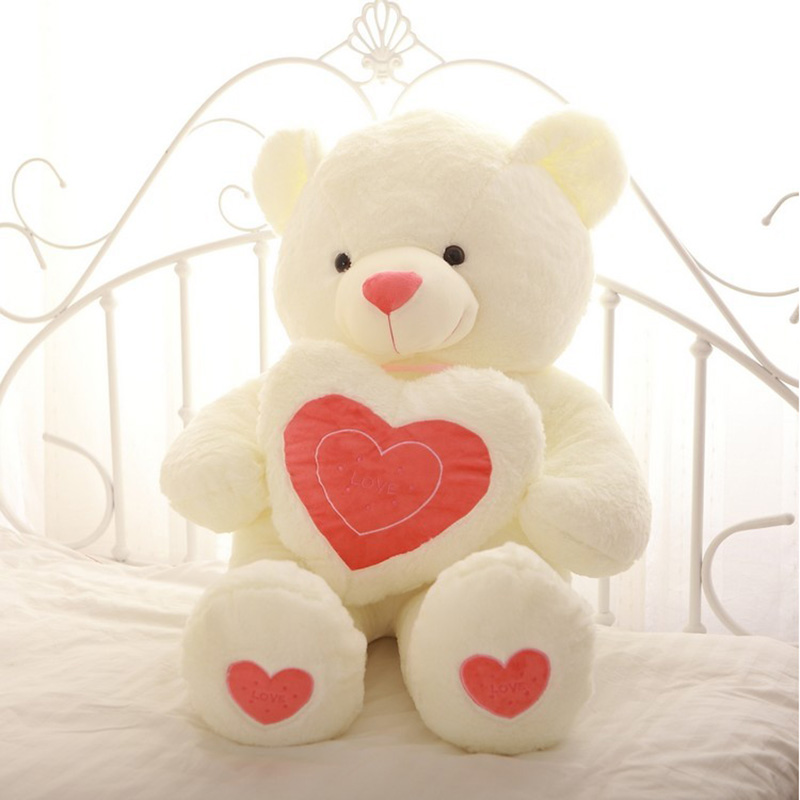 New 90cm Concise Lovely Romantic Teddy Bear Incleded Soft Toys Cute Plush Kids Toy Doll For Valentine' s Day Gift fancytrader new style giant plush stuffed kids toys lovely rubber duck 39 100cm yellow rubber duck free shipping ft90122