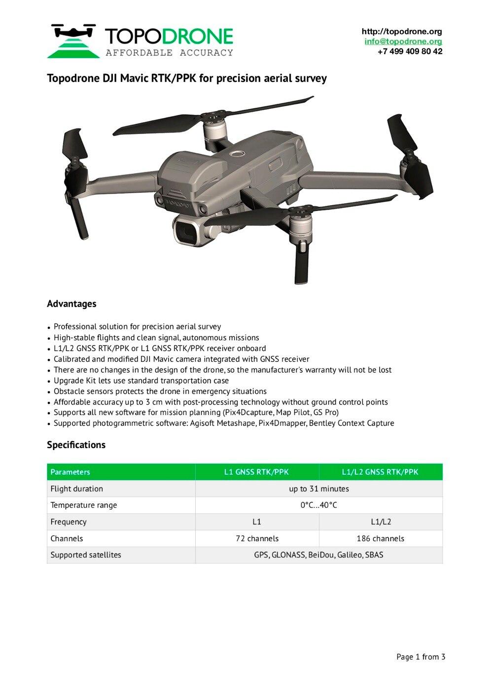 Hot Sale] Topodrone DJI Mavic RTK/PPK for precision aerial survey