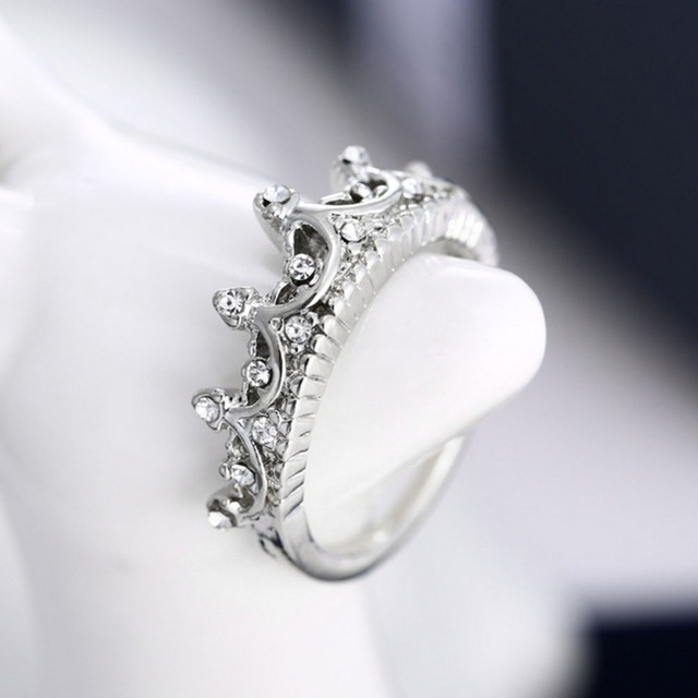 Princess Crown Ring New US Size 5 6 7 8 4