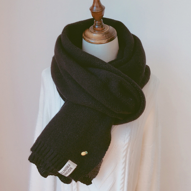 Solid Cashmere Winter Thicken Warm Soft Long Scarf 5