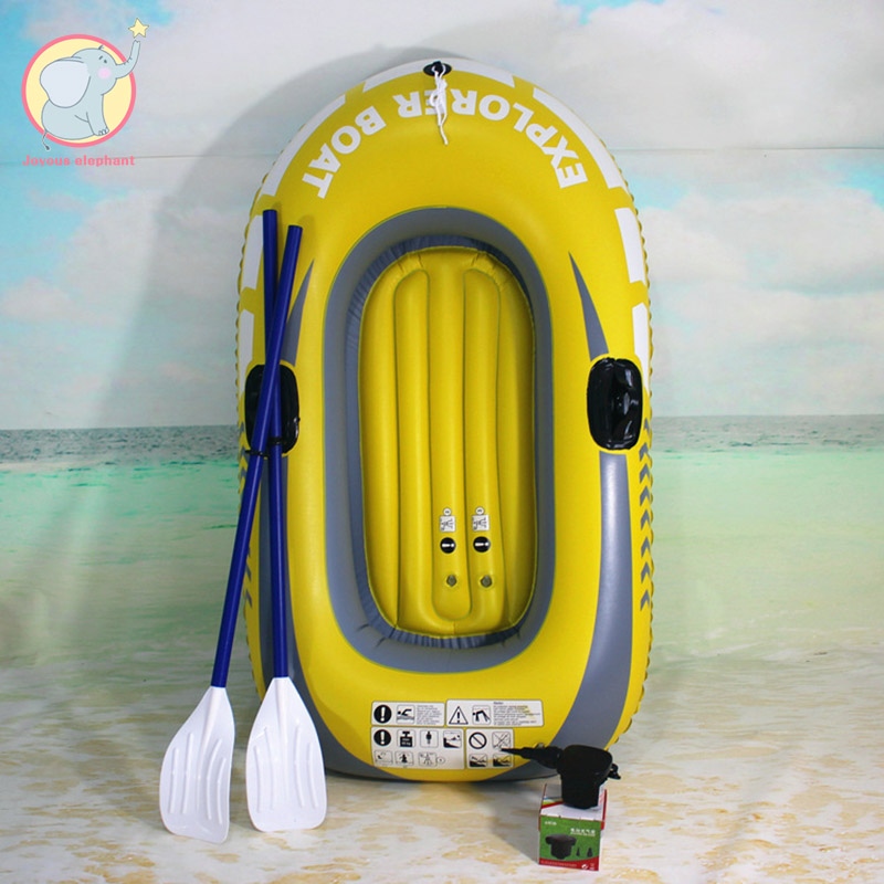Inflatable Boat Set Raft with Oars and Air Pump Floating Water Inflatable Inflatable boat Single rowing boat Inflatable rowing