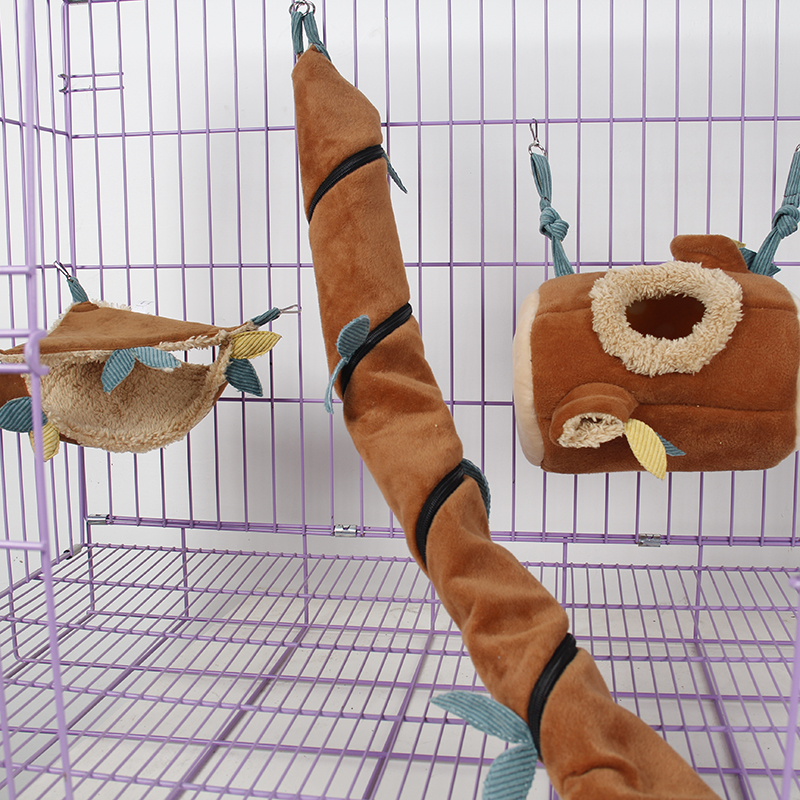 Cute Little Exotic Pets Sugar Glider Hedgehog Hamster Squirrel Chinchillas Ferret Critter Pouches Rope Hanging Sheet Cage