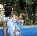 Moda Anel Da Água Da Praia Envoltório Estilingue Do Bebê Piscina Quick Dry chuveiro Engrenagem de Alta Qualidade Infantil Canguru Mochila Portador de Bebê da Marinha azul