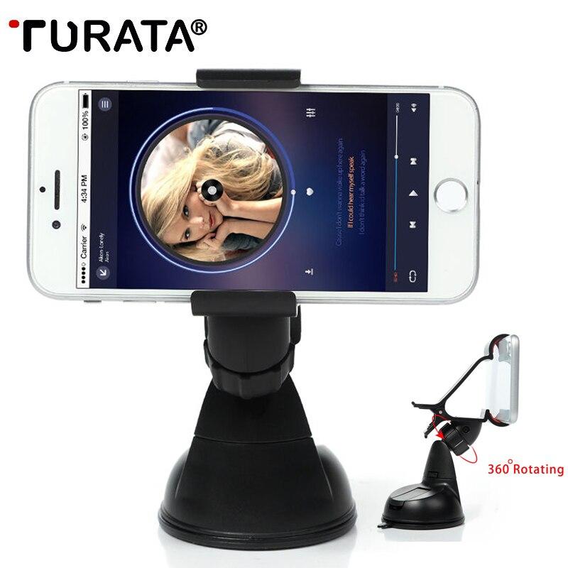 TURATA Clip Universale Car Holder Parabrezza Parabrezza Ventosa Supporto Del Telefono Per il iphone 7 8 X/Samsung S8 S8 +/Sony/LG/huawei