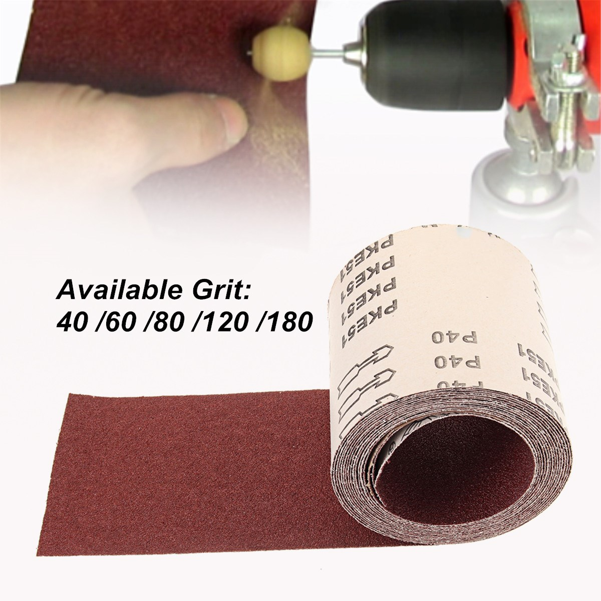 115mm X 5m Aluminium Oxide Sanding Roll 40/60/80/120/180 Grit SandPaper Sander Abrasive Polishing Accessories Woodworking Tools