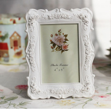 Creative Photo Frame Roses Flowers Crystal Diamond White Europe Style Fashion Vintage Ornaments Frames Home Accessories