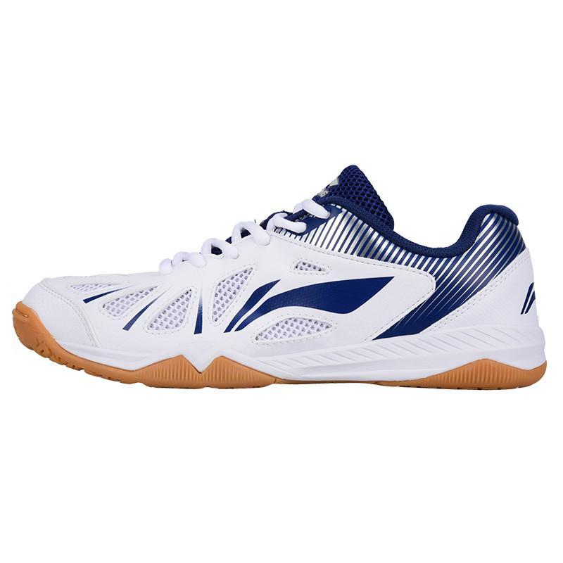 Новинка, Li-ning, мужская сборная обувь для настольного тенниса, анти-скользкая эластичная лента, профессиональные спортивные кроссовки - Цвет: APTM003-1
