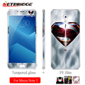 For Meizu M5 Note 5 Colorful Tempered Glass Screen Protector Front + Back Full Body Phone Protection Glass PE Soft Film