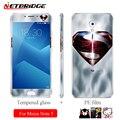 Para meizu m5 nota 5 colorido protector de pantalla de cristal templado Front + Back Del Cuerpo Completo de la Protección Del Teléfono de Cristal Suave PE película