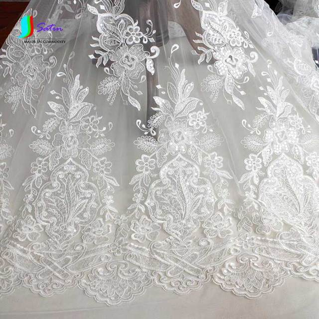 White lace material for dresses