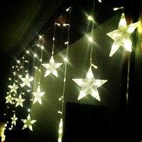새해 별 Led 문자열 요정 조명 크리스마스 화환 장식 3x0.65 메터 Led Cristmas 조명 산후 하늘에 불빛이 드 나비 다드