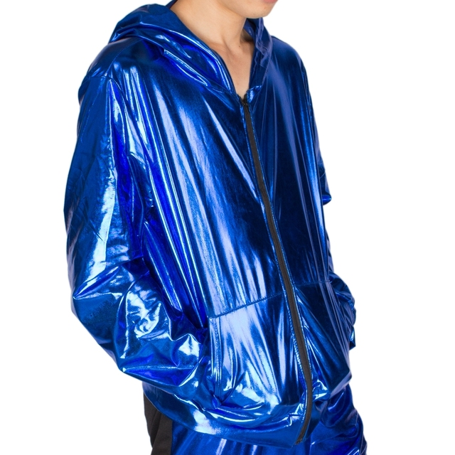 2017 Spring Autumn Men Blue bomber Jacket Stage Performance Wear paillette male casaco Hip Hop dance coat 4