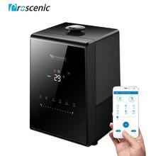Proscenic 807C ultrasonik nemlendirici 5.5L buharlaştırıcı sıcak ve serin sis büyük oda için App ve Alexa kontrolü, LED hava nemlendirici