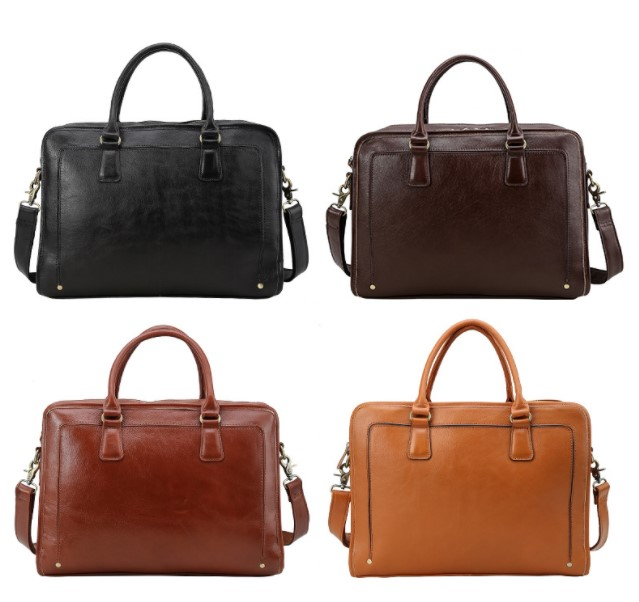 men's business dress genuine leather 15.6laptop bags 2018new man black brown business travel handbags briefcase crossbody bags портмоне mano business 19008 19008 brown