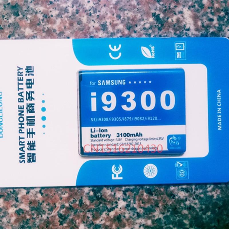 3100 mah Qualidade DLL Originais EB-L1G6LLU bateria Para Samsung Galaxy S3 i9300 I9305 I535 L710 T999 i9082 i9128v i879