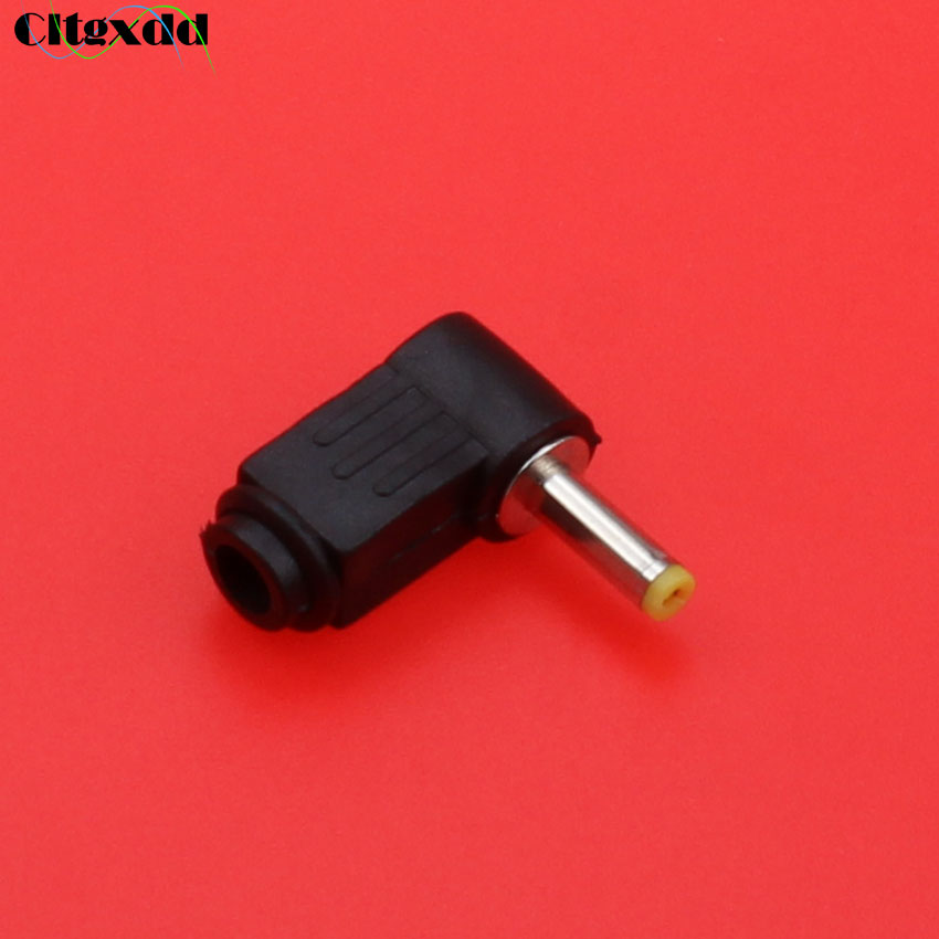 cltgxdd 5~20PCS Right Angle socket jack interface 4.0mm*1.7mm DC Power Cable Male Plug Connector Adapter,Solder, DIY 4.0/1.7mm