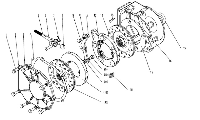 JINMA 354 404 454 tractor, the set of brake disc for one