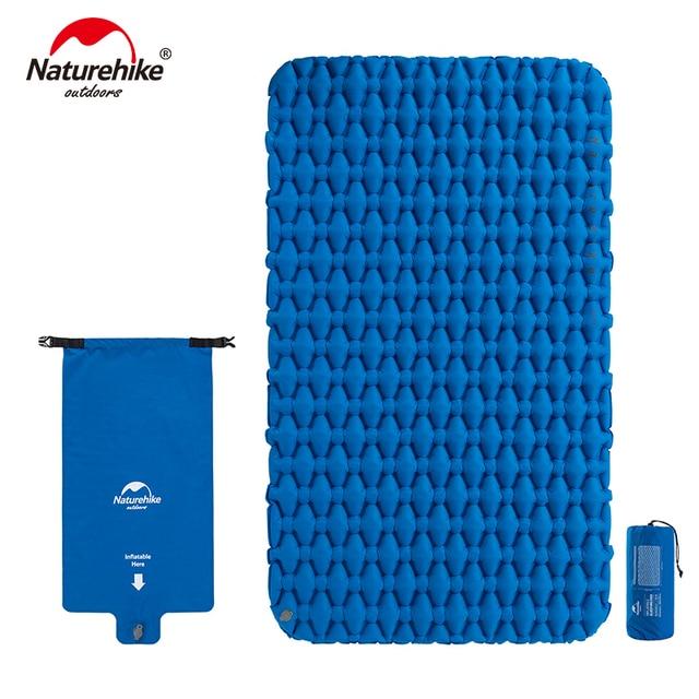 Naturehike Lightweight Moisture proof Air Mattress Nylon TPU Sleeping Pad Inflatable Mattress Camping Mat For 2Person NH19Z055 P