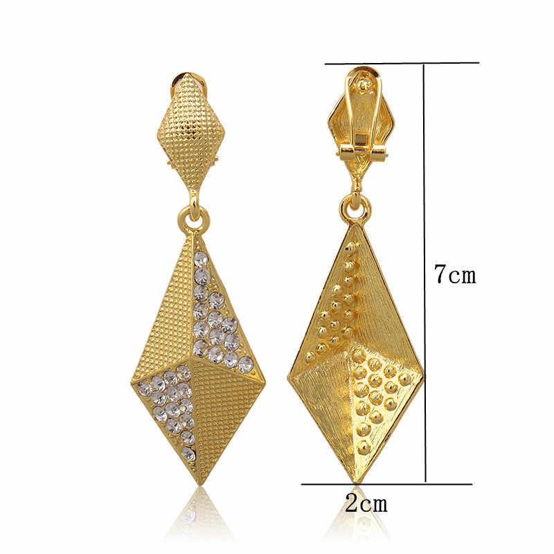Fani 2018 באיכות גבוהה תכשיטי זהב עגילים לנשים סיטונאי תחפושות סגנון Stud עגילים עבור אישה חתונה זרוק חינם