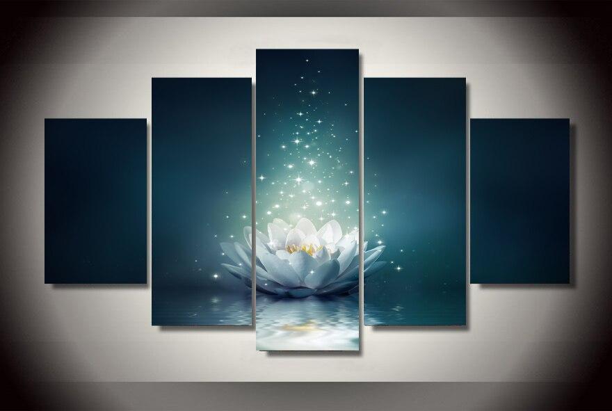 HD Tištěné lekníny květ květ voda Malování dětský pokoj výzdoba tisk plakát obrázek plátno Doprava zdarma