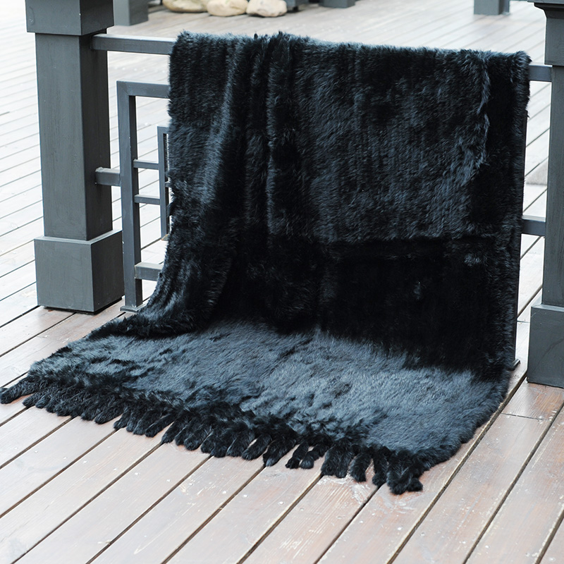 CX D 20G sofá decorativo para el hogar, manta de piel de conejo caliente - 3
