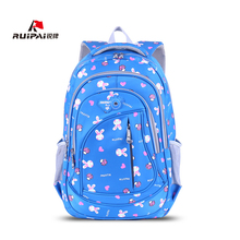 RUIPAI Cartoon Kids Backpack Schoolbags Cute Rabbit Decoration Shoulder School Bag For Grade 3-6 Girl Students  Mochila Rucksack