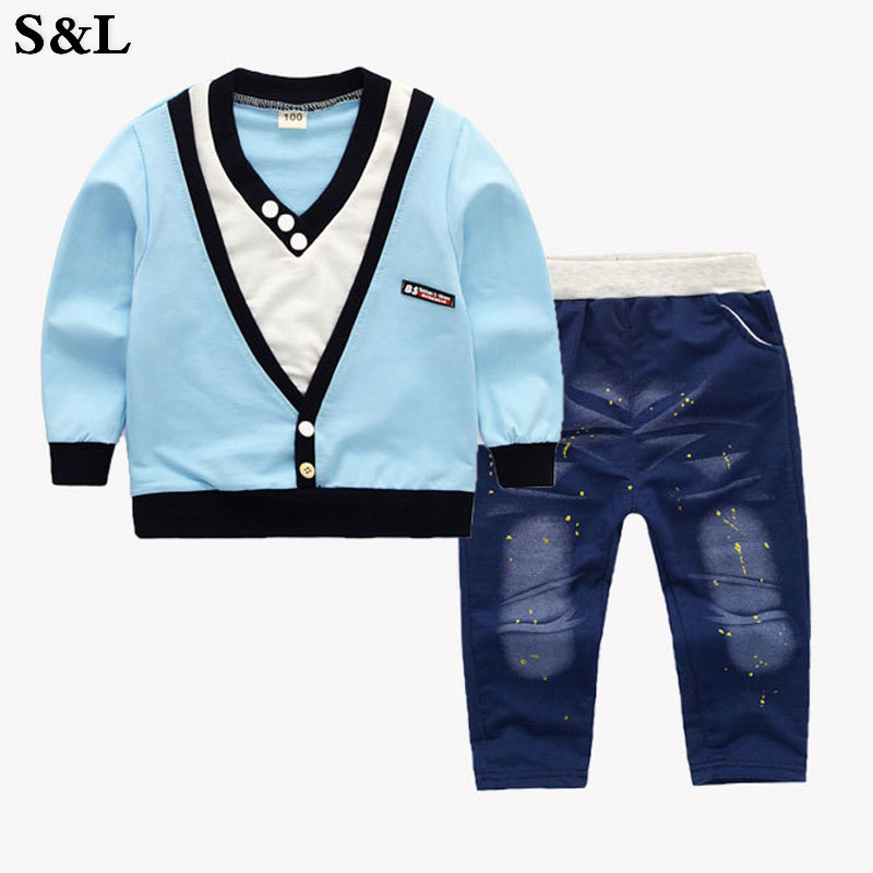 Children Clothing 2017 Long Sleeve Autumn Boys Clothes Sets New Outfits Suit Two-Piece Sport Suit Of 1 2 3 4 Years Kids Clothes алевтина луговская если малыш плохо ест