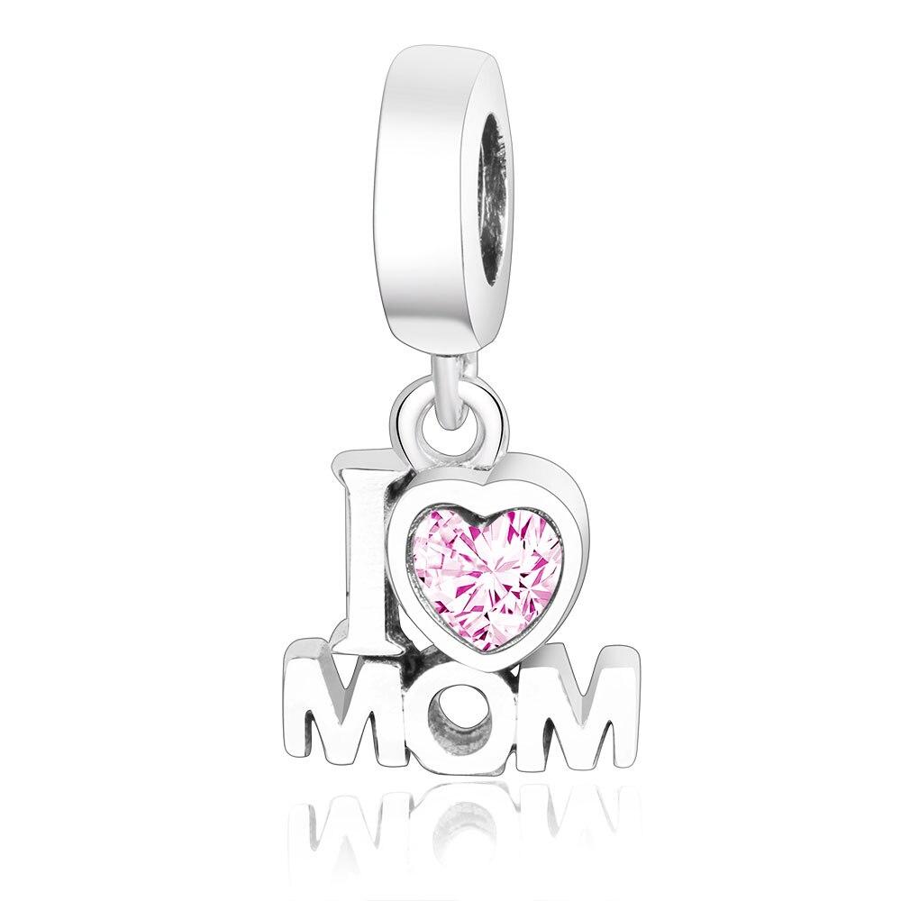 Sterling Silver Love Heart Charm Re Enamel Fits on European Charm Bracelet
