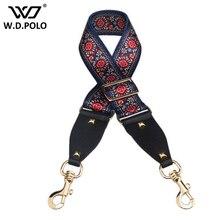 Wdpolo fabrica ремень шикарные женские сумки в полоску женские сумки на плечо ремни приспособиться нация ветер сумки аксессуары золотой buckleAA127