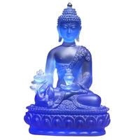Tantric Religion Glass Pharmacist Buddha Da Riru Buddha Statues Seven Buddhas Dedicated to Disasters Life Extension Crafts
