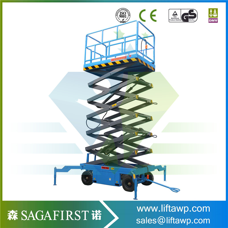 14m,16m,18m Semi Electric Scissor Lift Platform With ISO And CE Certificate