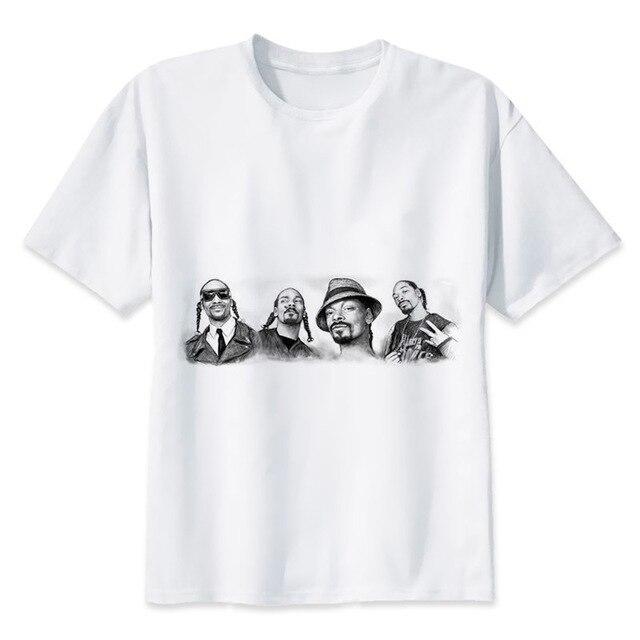 2b9d9964a8 Snoop Dogg camiseta del verano o del muchacho Masajeadores de cuello blanco  juventud camiseta casual blanco