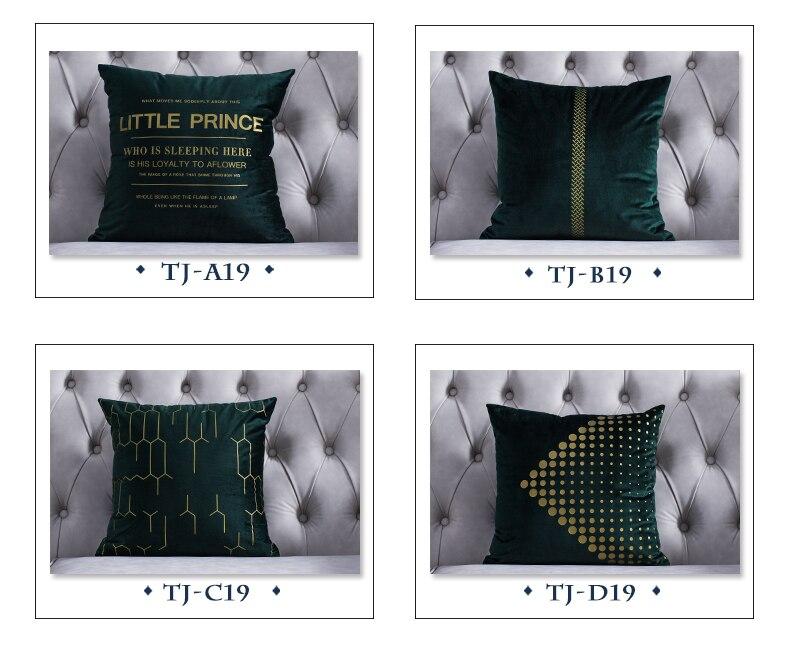Tremendous 45X45Cm Green White Blue Grey Red Nordic Velvet Cushion Pillowcase Back Throw Pillow Cover Bed Foiled Golden Cushion Case Home Short Links Chair Design For Home Short Linksinfo