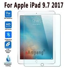 100% de Calidad Superior 9 H Vidrio Templado Para Apple el Nuevo ipad 9.7 2017 Screen Protector Duro de la Cubierta Para el Nuevo ipad 9.7 2017 Templado vidrio