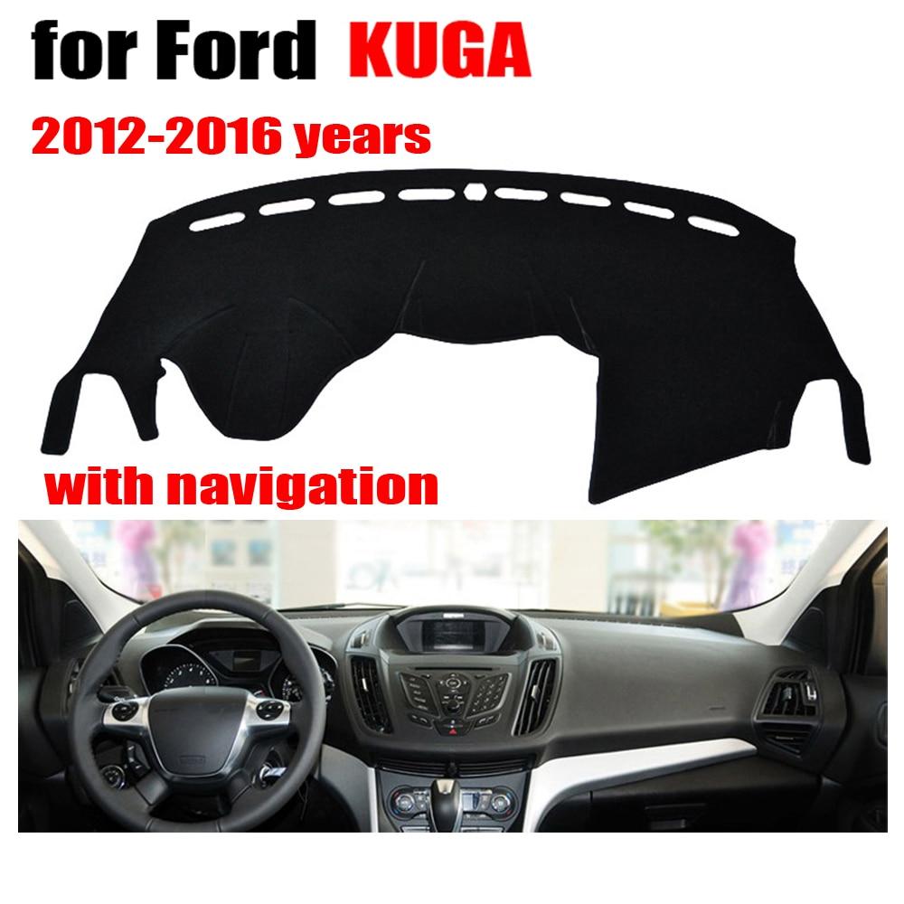 Tampas do painel do carro mat para ford escape kuga com navega o 2012 2016