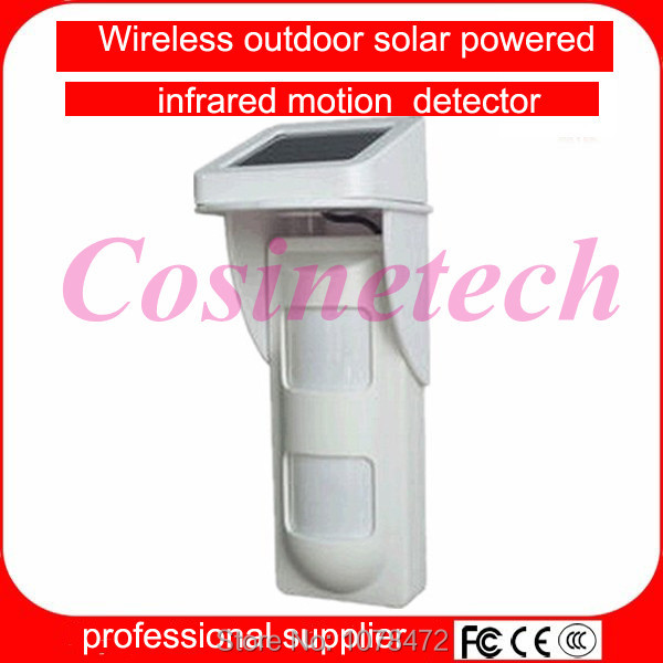 433/315MHZ wireless Solar Powered pet friendly PIR detector,Outdoor pet-immune immunity infrared motion sensor for G90B alarm