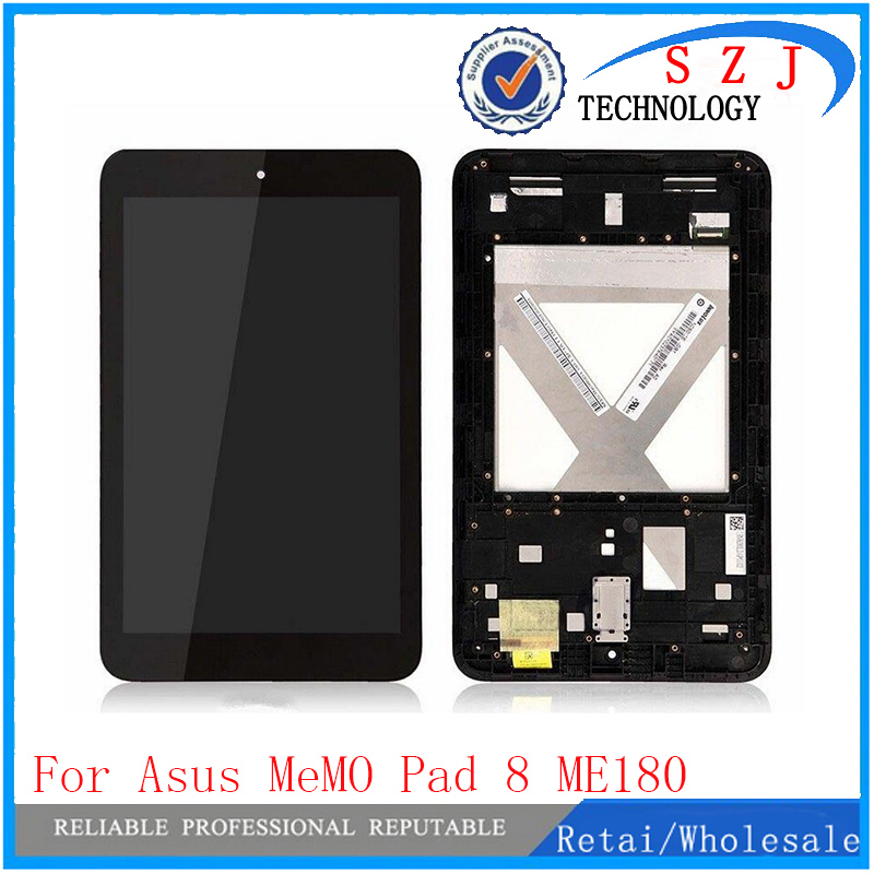 New 8'' inch Replacement For Asus MeMO Pad 8 ME180 ME180A digitizer touch screen with lcd display assembly Frame Free shipping used parts lcd display glass panel touch screen digitizer assembly frame for asus memo pad smart 10 me301 me301t k001 5280n 8v