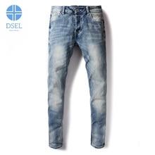 Casual männer Jeans DSEL Marke Kleidung Slim Fit Denim Designer Stretch Jeans Männer Tasten Jeans Elastische Hose