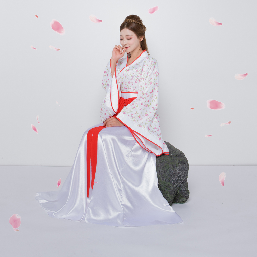 Chinese Traditional Tang Dynasty Ancient Costume Women Hanfu Dress Chinese Fairy Dresses dance costume Hanfu Clothing L196