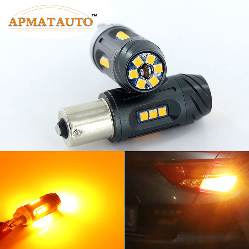 2x Canbus No Hyper Flash 1156 BAU15S PY21W 7507 BA15S P21W 7506 Amber Yellow Front Rear Turn Signal Light For VW Golf4 Jetta new 2x80w 1156 bau15s 7507 py21w high power cree chips car led turn signal light bulb yellow
