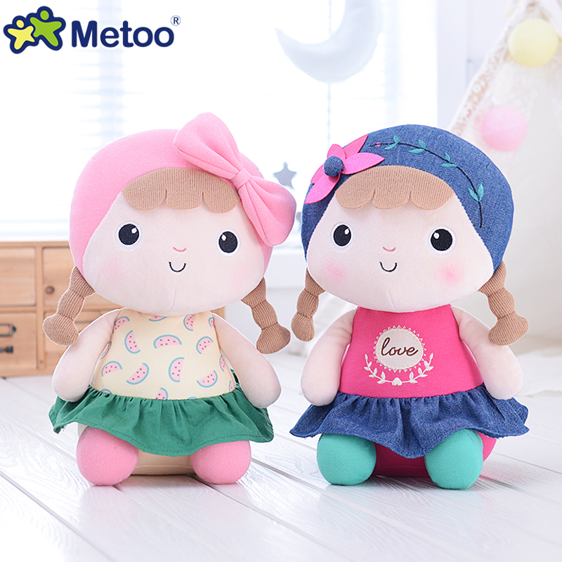 Metoo Doll Cute Cartoon Girls Baby Soft Plush Stuffed Toys Kawaii Sweet Lovely Animals For Kid Children Christmas Birthday Gift цена