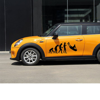 58 см x 26.36 см 2 x Эволюция bodyboard Сёрфинг забавный графический (один для каждой стороны) окна автомобиля дверь Стикеры виниловая наклейка 9 Цвета