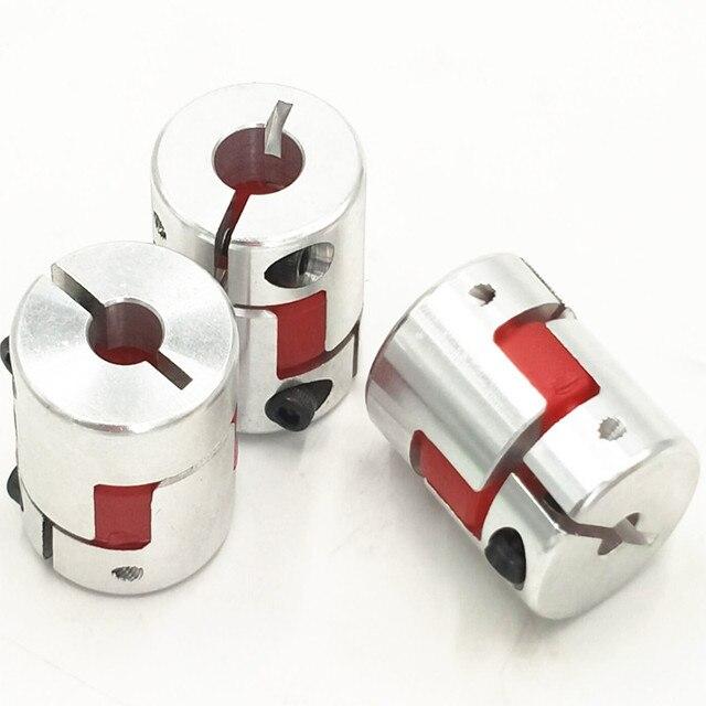 3pc  6.35x 8mm  8/10/12/12.7/14/15/16/mm D25mm L30mm Motor Flexible Plum Coupling Shaft Coupler