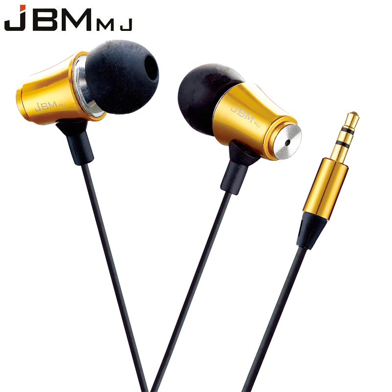 JBMMJ MJ8500 Super clear Bass 3.5mm Metal In-Ear Earphone For Cell Phone Android iphone 5 5s 6 6s 7 xiaomi Samsung smartphone
