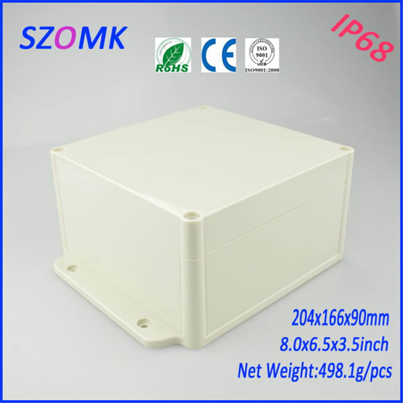 waterproof plastic housing instrument enclosure (4 pcs) 204*166*90mm electronic box wall mounting