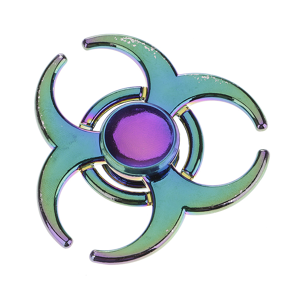 Rainbow OX Horn Fidget Hand Finger Spinner EDC Focus Toy Speed Bearing for Kids