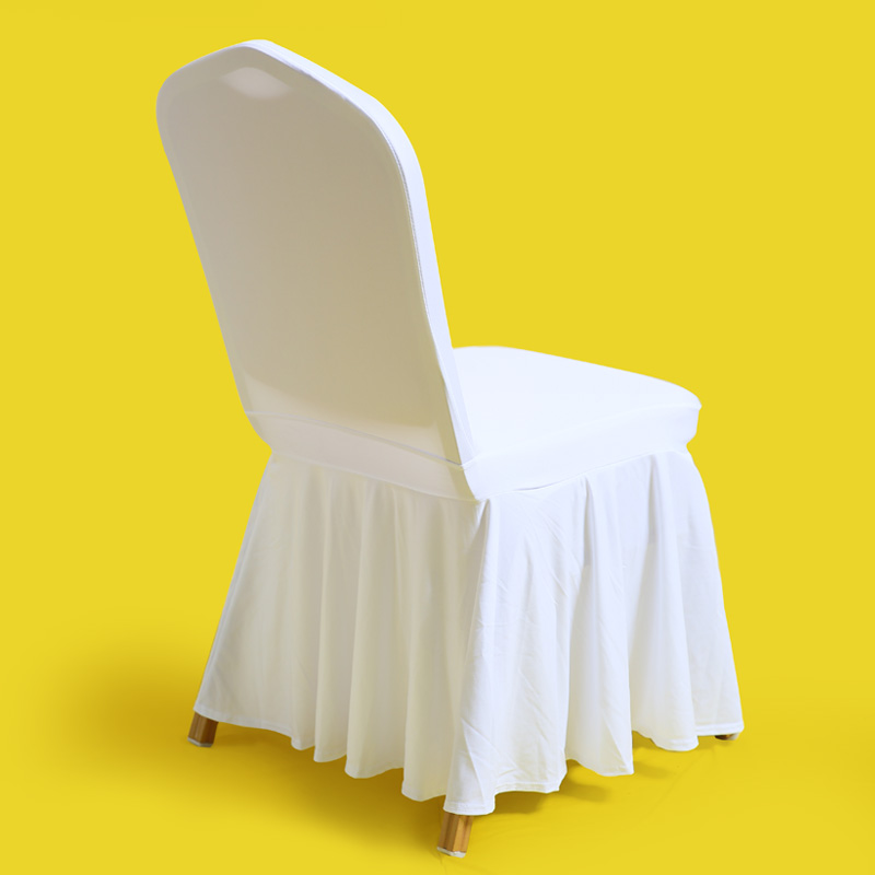 80pc Universal Stretch Skirt White Chair Covers Spandex
