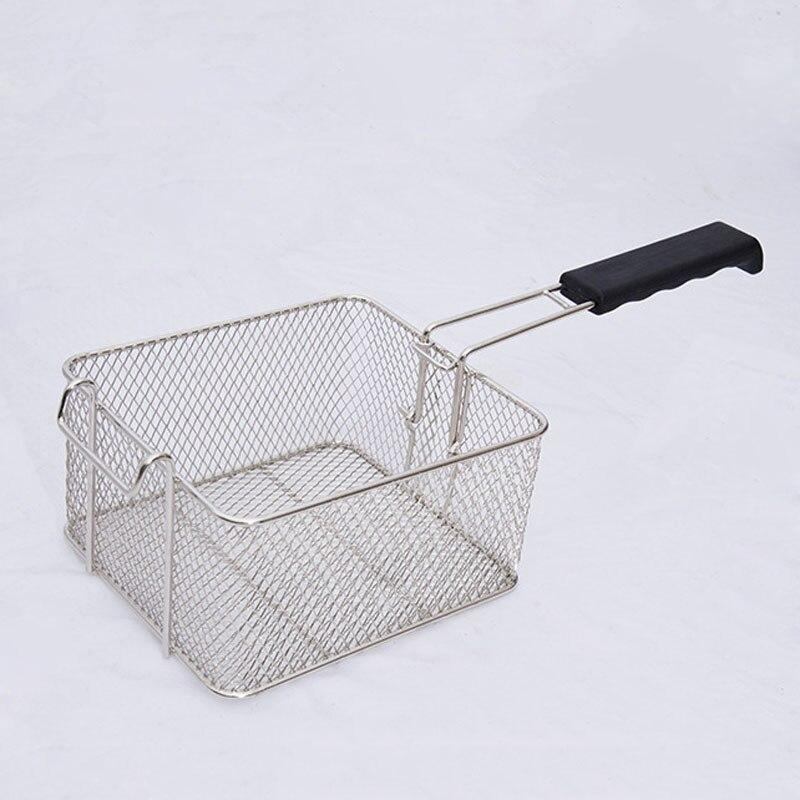 ステンレスディープファットフライヤーバスケットオイルフライドチップスフィッシュナゲットフライフードキッチンクックパンストアКартофельфри