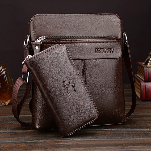 f0ec7a6683d9 US $19.51 32% OFF|Man Messenger Bag PU Leather Shoulder Bags Business  Crossbody Casual Handbag Famous Brand Men Bag Briefcase-in Briefcases from  ...