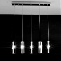 Главная светодиодный Кристалл Колонка светло люстра Luminaria 5 шт. Обеденная shopcase современный Кухня освещения ресторан бар Led блеск